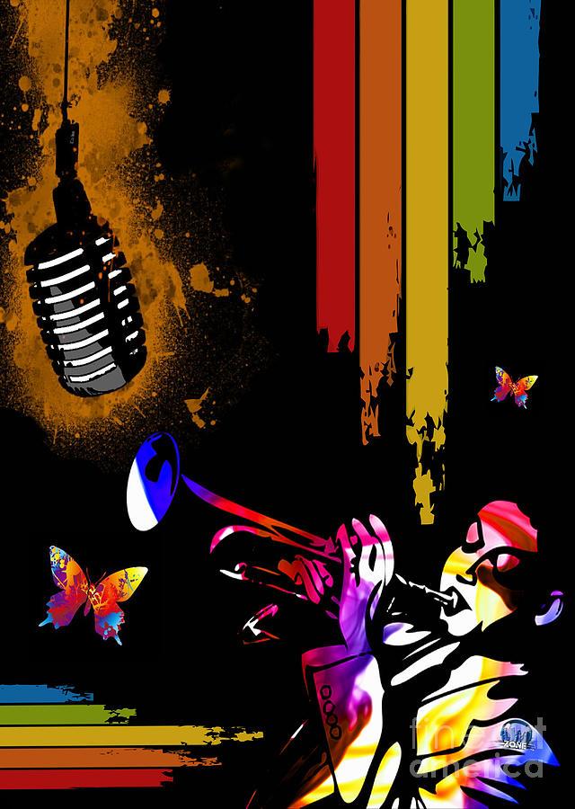 Jazz Digital Art by Mundo Arte