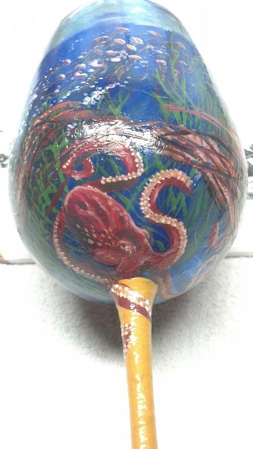 Jellyfish On Glass Glass Art by Dan Olszewski