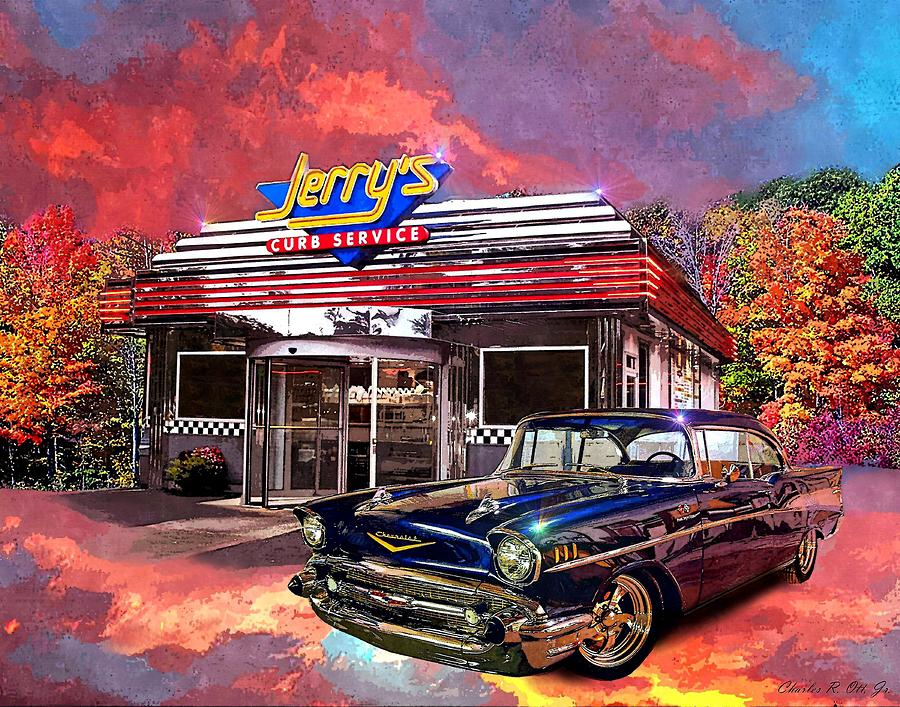 Car Painting - Jerrys Curb Service by Charles Ott
