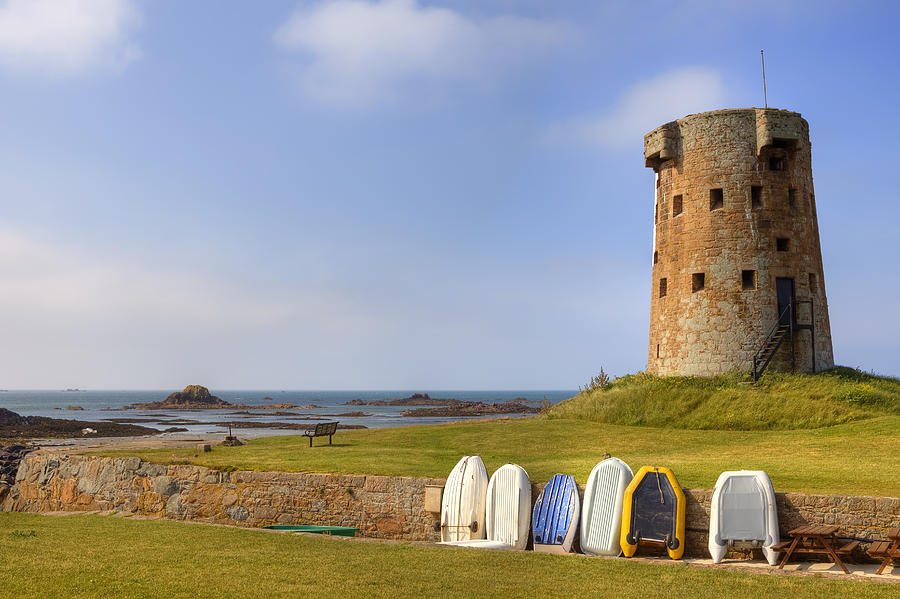 Tower Photograph - Jersey - Le Hocq by Joana Kruse