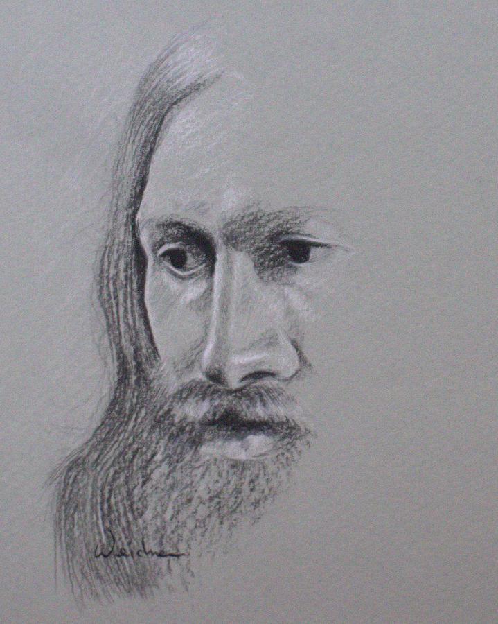 Jesus Drawing - Jesus by Kathy Weidner