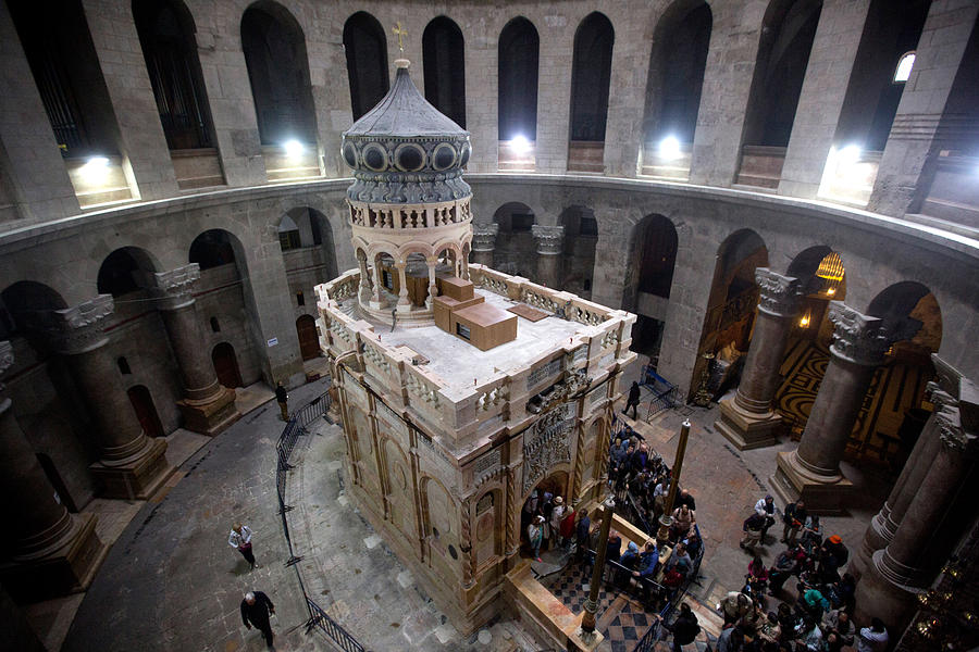 Jesus Tomb To Be Unveiled After $4 Million Renovation Project Photograph by Lior Mizrahi