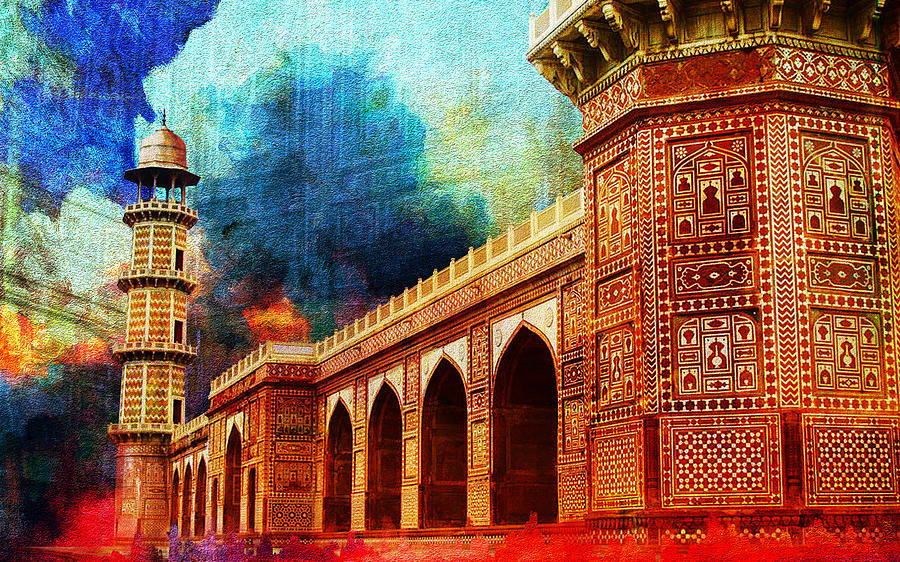 Pakistan Painting - Jhangir Tomb by Catf