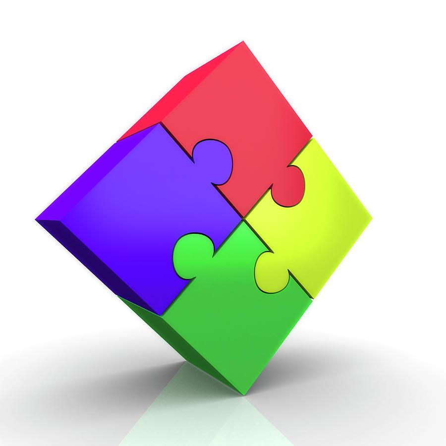 Artwork Photograph - Jigsaw Puzzle by Wladimir Bulgar