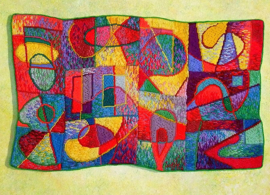 Tapestry Wool Tapestry - Textile - Jigsaw Tapestry by Diane Fine
