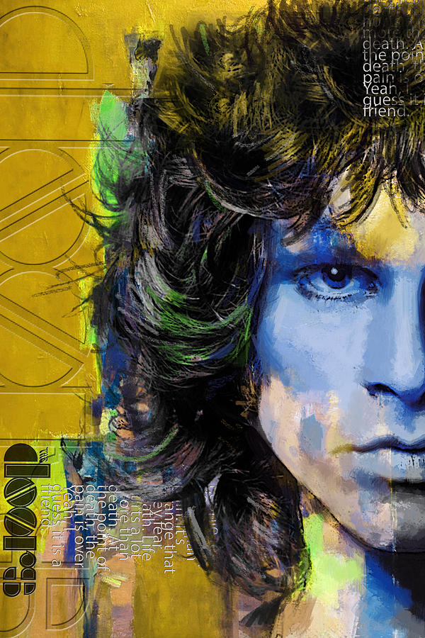 College Painting - Jim Morrison by Corporate Art Task Force