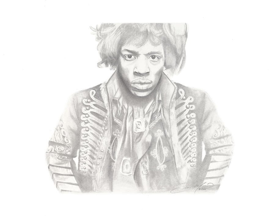 Jimi Hendrix Drawing - Jimi Hendrix by Don Medina