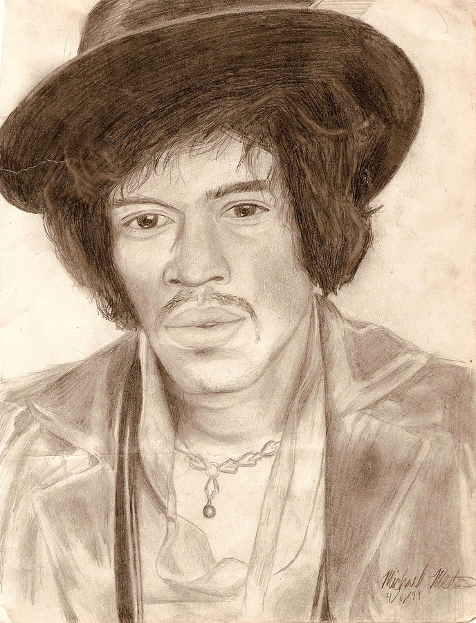 Jimi Hendrix Drawing - Jimi Hendrix by Michael Mestas