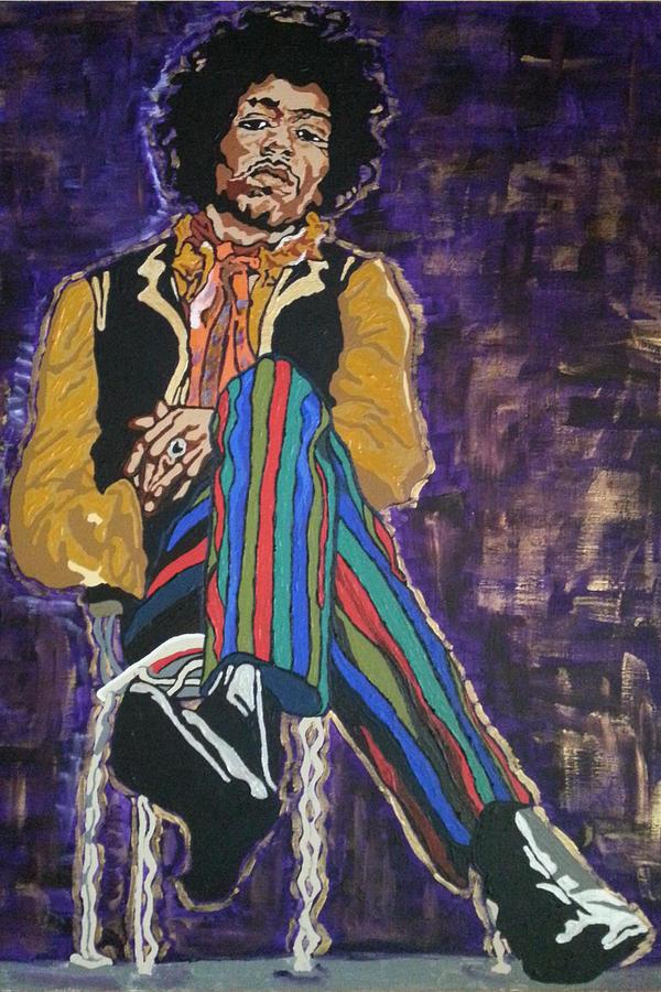 Jimi Hendrix Painting - Jimi Hendrix by Rachel Natalie Rawlins