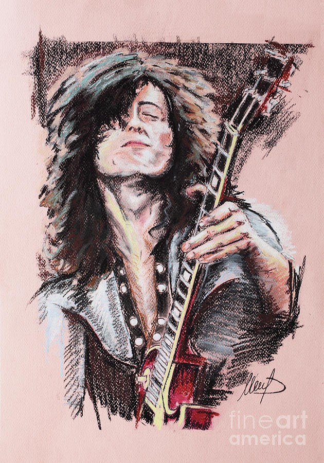 Jimmy Page Painting - Jimmy Page 1 by Melanie D
