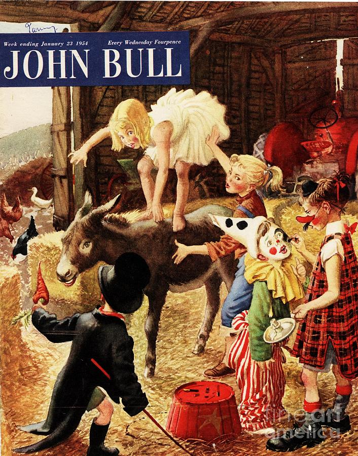 1950s Drawing - John Bull 1950s Uk Dressing Up Fancy by The Advertising Archives