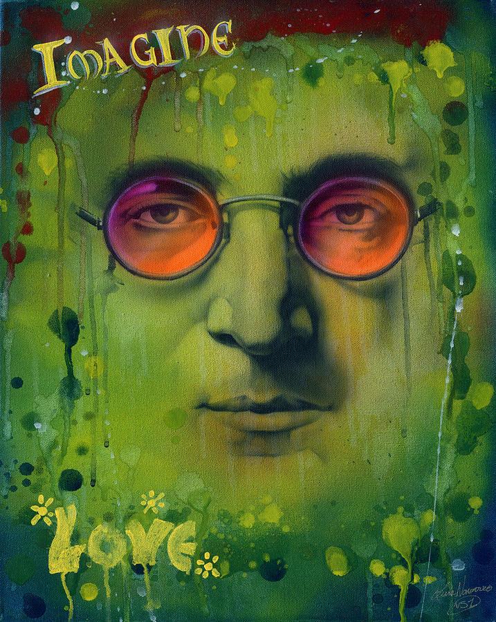 John Lennon Painting - John Lennon by Luis  Navarro