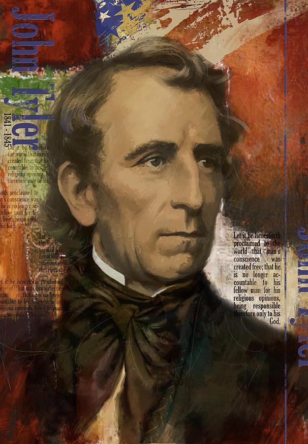 John Tyler Painting - John Tyler by Corporate Art Task Force