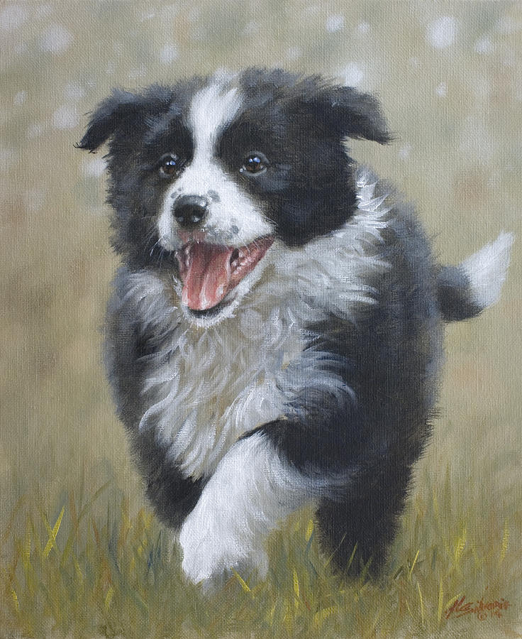 Dog Painting - Jubilant Spirit by John Silver