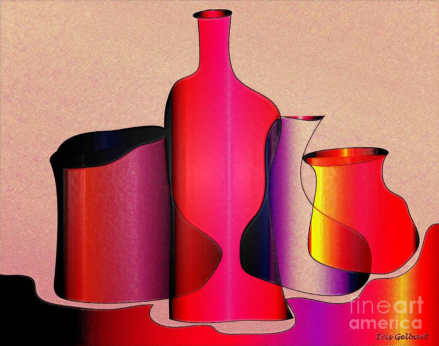 Jugs Digital Art - Jugs 4 by Iris Gelbart