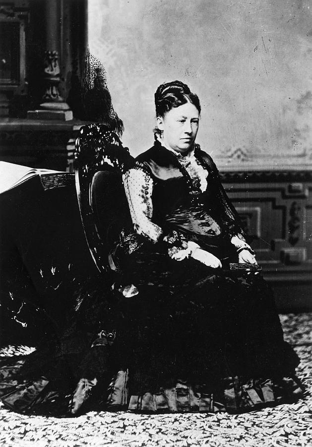 1869 Photograph - Julia Dent Grant (1826-1902) by Granger