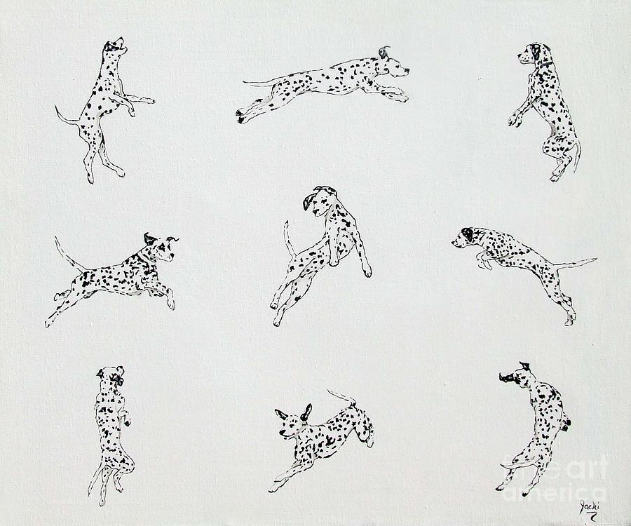 Dalmatian Painting - Jump With Joy by Jacki McGovern