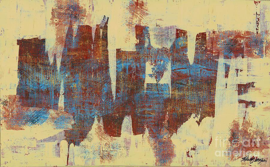 Abstract Painting - Just Below The Surface by Robert D McBain