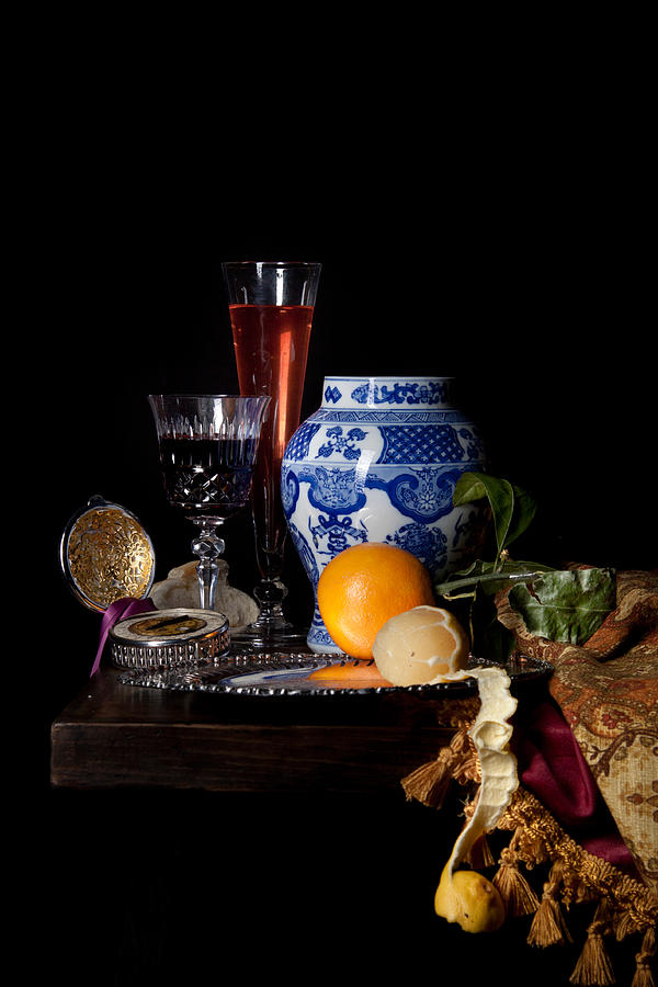 Dutch Photograph - Kalf - Still Life With A Chinese Porcelain Jar  by Levin Rodriguez