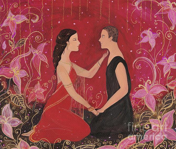 Kamala Painting - Kamala And Siddharta by Sol Rossi