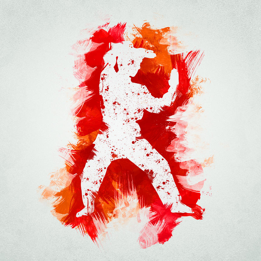 Action Digital Art - Karate Fighter by Aged Pixel