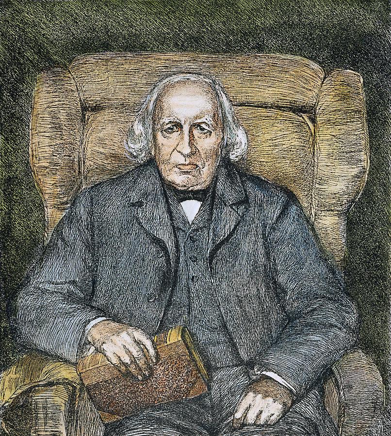 19th Century Drawing - Karl Theodor Weierstrass (1815-1897) by Granger