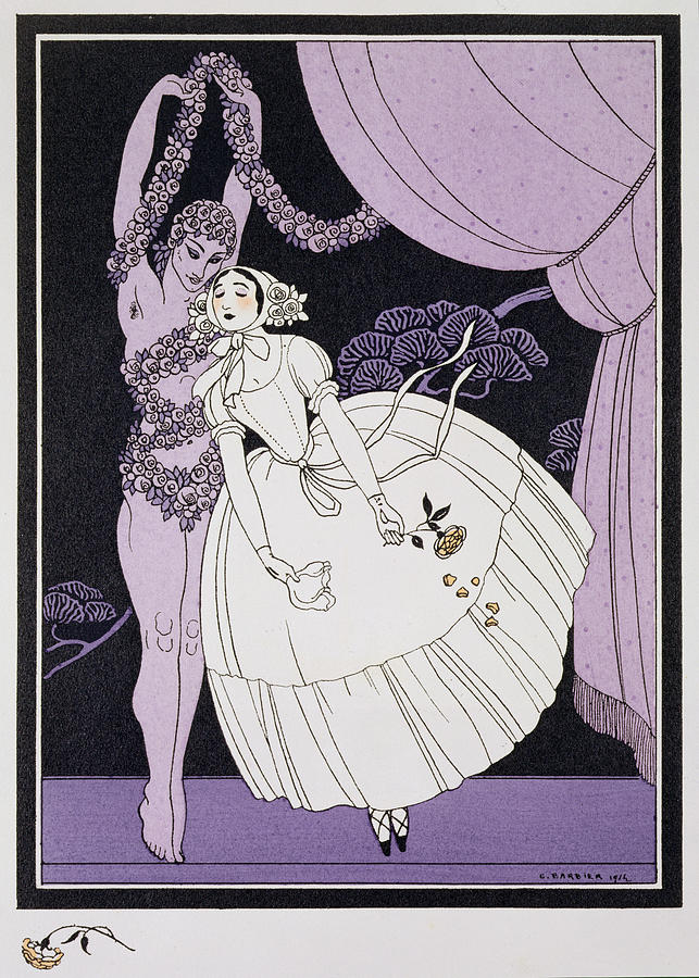 Ballet Russe Painting - Karsavina by Georges Barbier