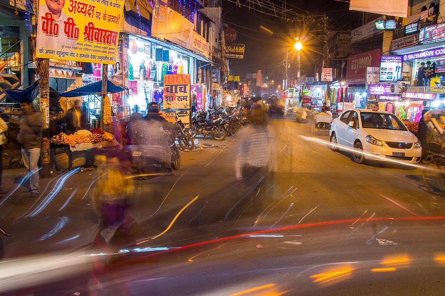 Allahabad Photograph - Katra Market by Gaurav Singh