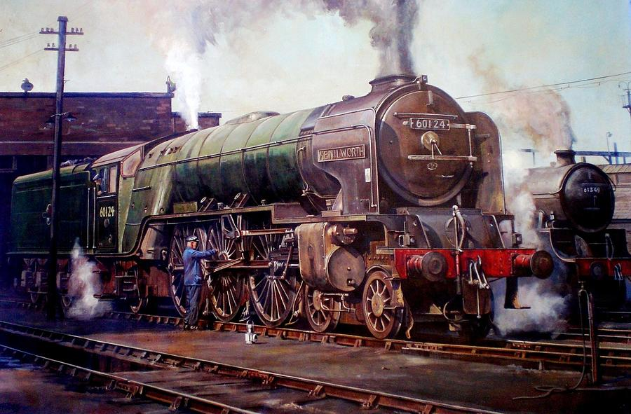 Train Painting - Kenilworth On Shed. by Mike  Jeffries