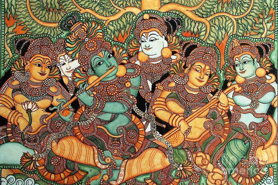 Kerala Mural Painting Painting by Robert Prusso jr