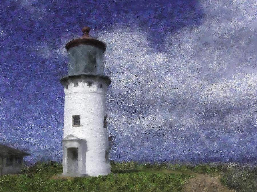Kilauea Mixed Media - Kilauea Lighthouse by Renee Skiba