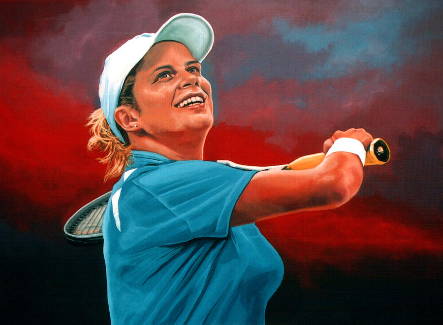 Paul Meijering Painting - Kim Clijsters by Paul Meijering