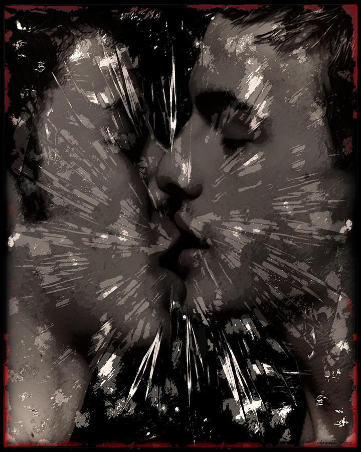 Queer Digital Art - Kiss by John Waiblinger