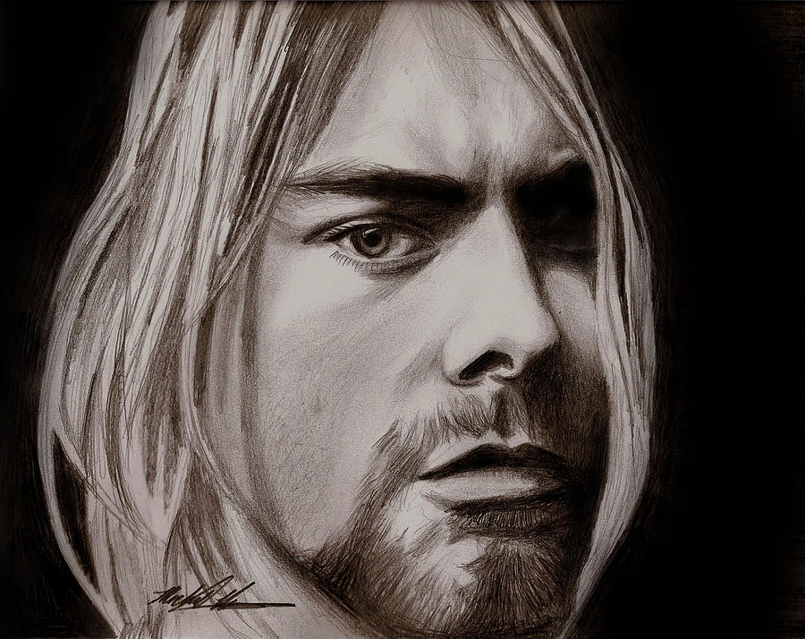 Kurt Cobain Drawing - Kurt Cobain by Michael Mestas