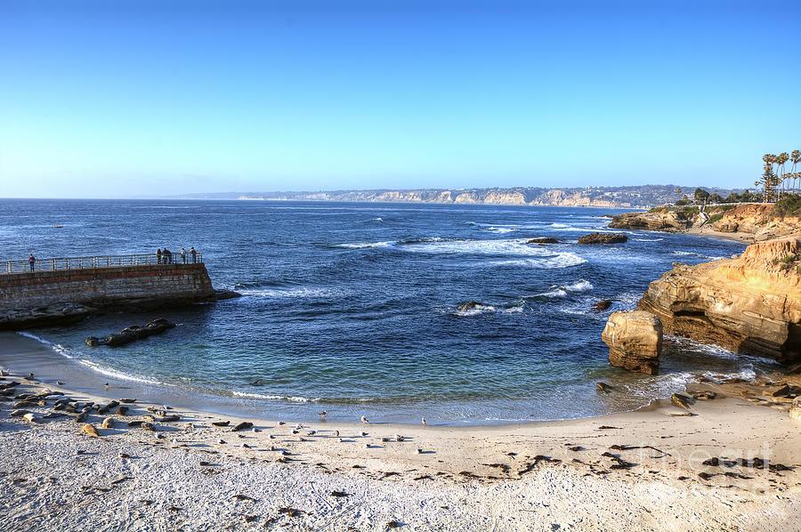 La Jolla Photograph - La Jolla Shores by Eddie Yerkish