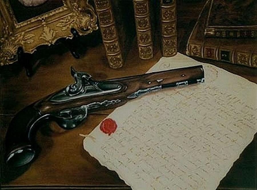 The Letter Painting - La Lettre by Guillaume Bruno