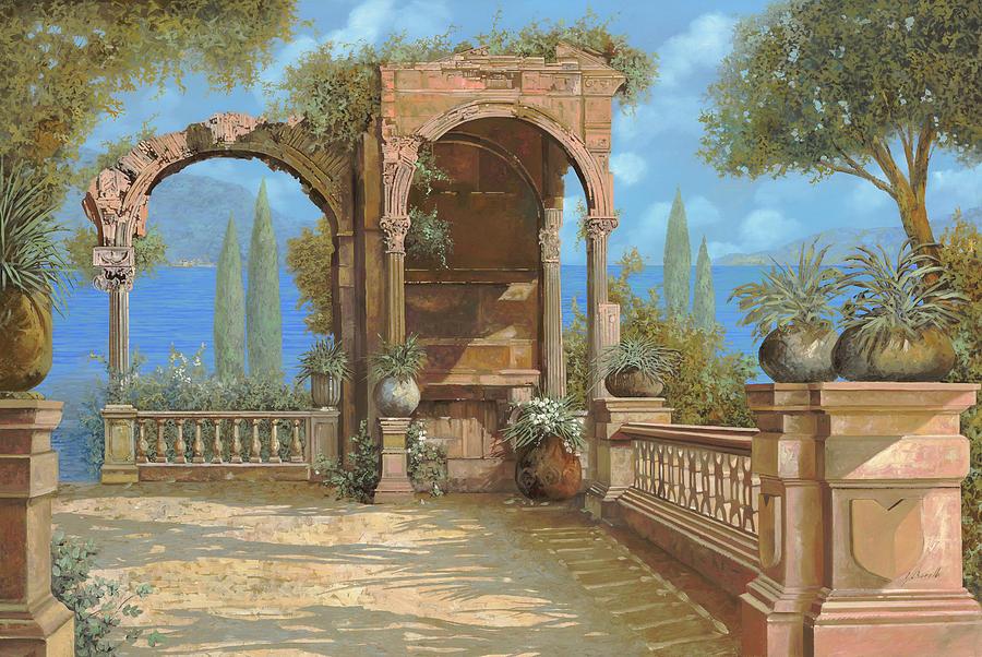 La Terrazza Sul Lago Painting by Guido Borelli