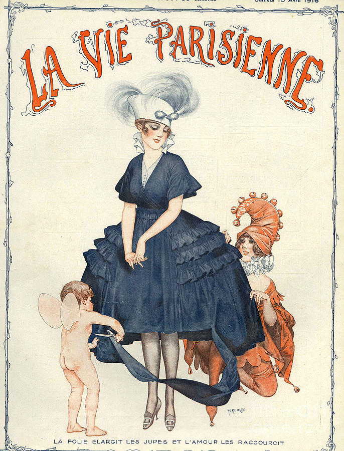1910s Drawing - La Vie Parisienne 1916 1910s France by The Advertising Archives
