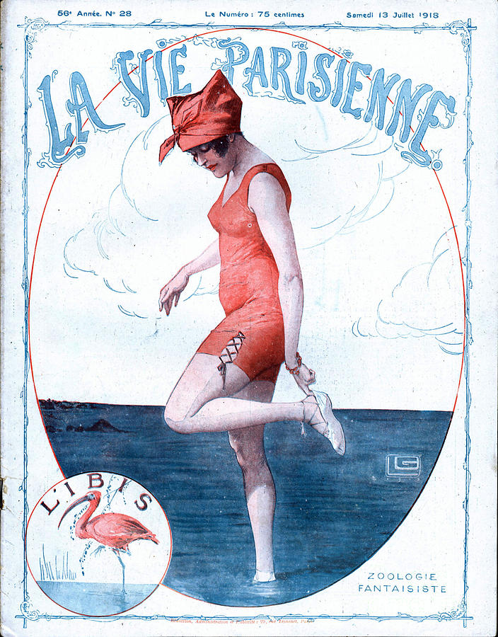 1910�s Drawing - La Vie Parisienne 1918 1910s France by The Advertising Archives