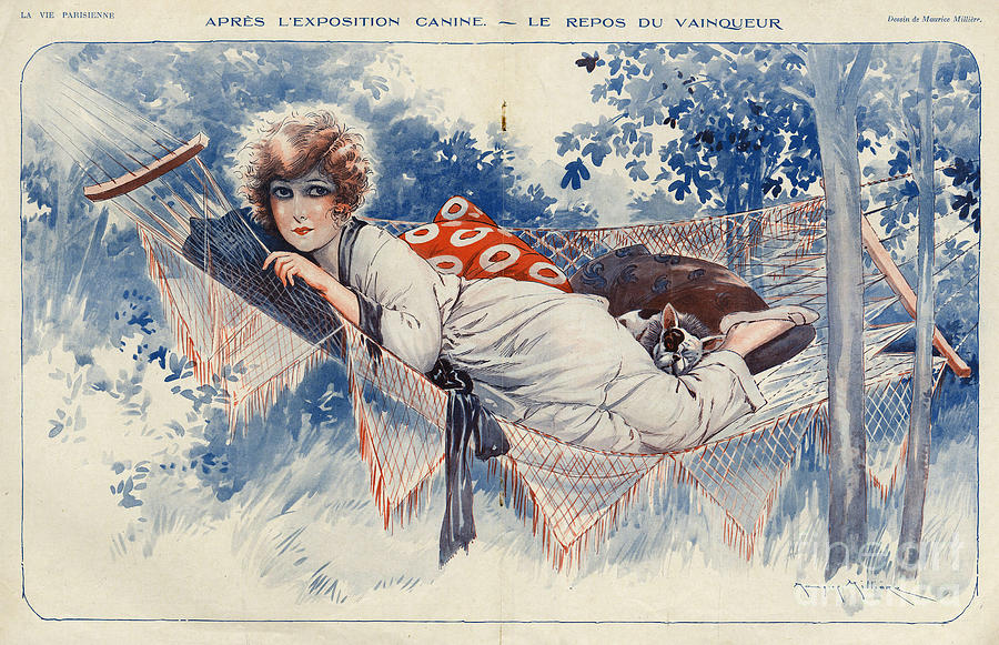 French Drawing - La Vie Parisienne 1920s France Maurice by The Advertising Archives