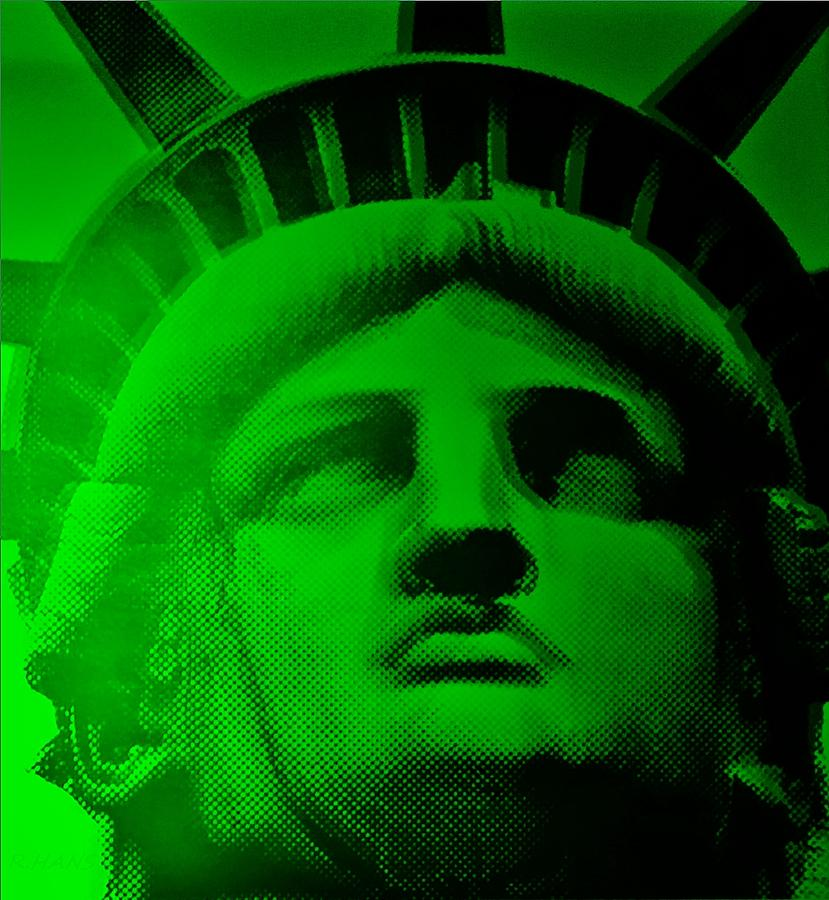 Statue Of Liberty Photograph - Lady Liberty In Green by Rob Hans