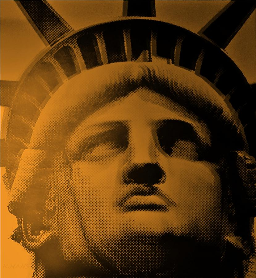 Statue Of Liberty Photograph - Lady Liberty In Orange by Rob Hans