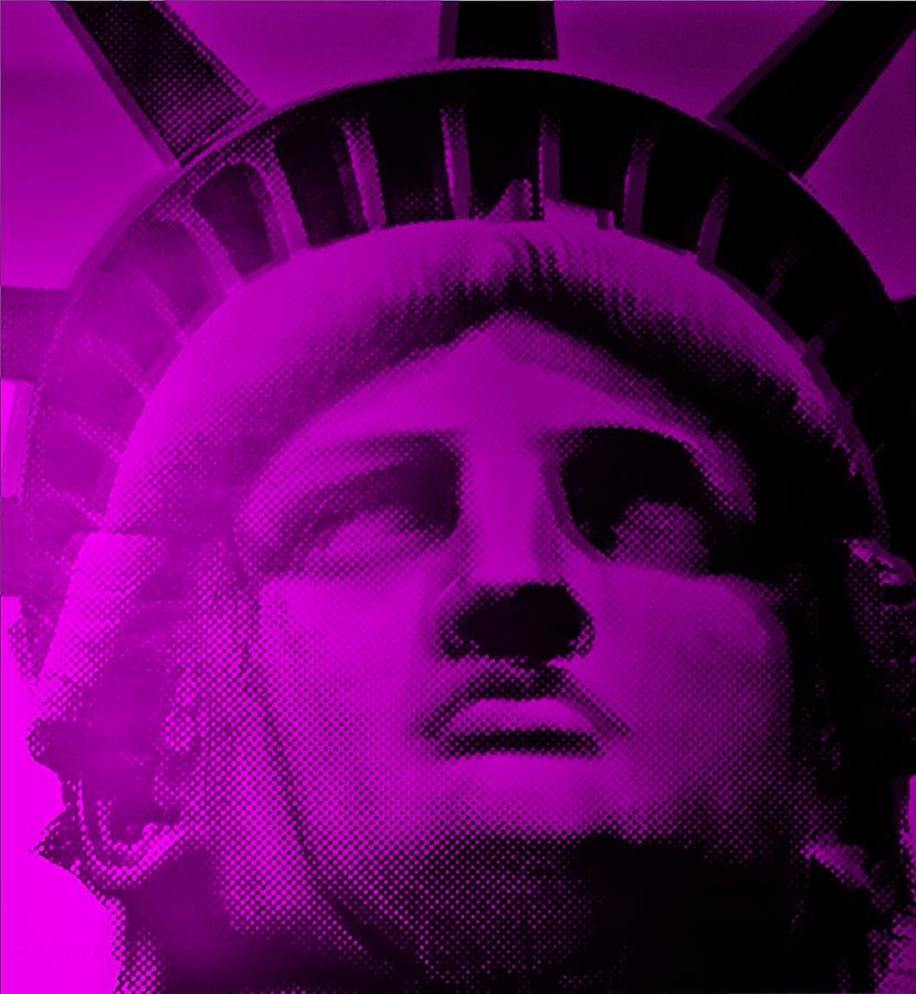 Statue Of Liberty Photograph - Lady Liberty In Purple by Rob Hans