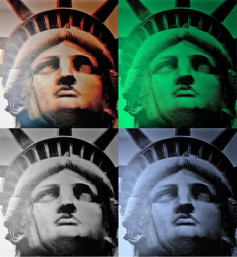 Statue Of Liberty Photograph - Lady Liberty In Quad Colors by Rob Hans