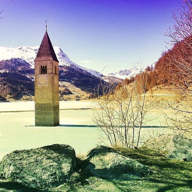 Beautiful Photograph - Lago Di Resia - Alto Adige by Luisa Azzolini