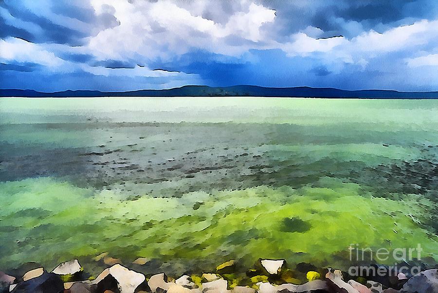 Paint Painting - Lake Balaton Hungary by Odon Czintos