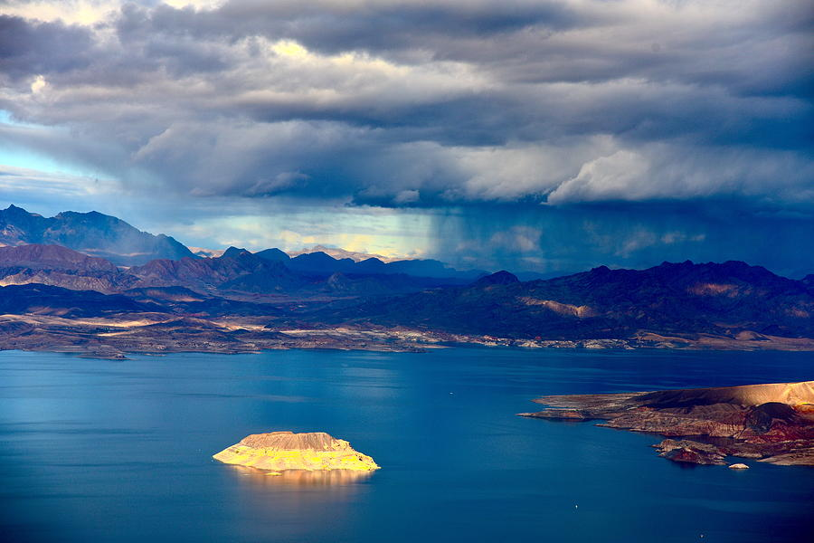 Lake Mead Nevada Photograph - Lake Mead Afternoon Thunderstorm by Amanda Miles