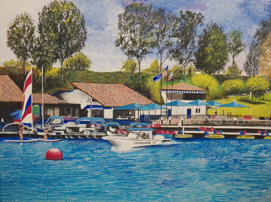 Water Painting - Lake Mission Viejo by Jim  Reale