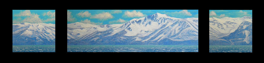 Lake Tahoe After The Storm Triptych Painting