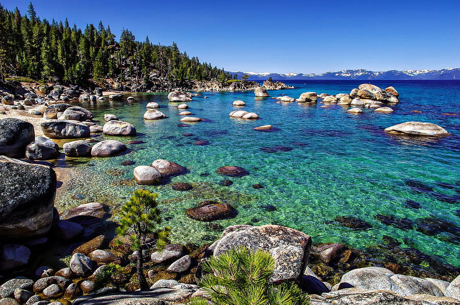 Blue Sky Photograph - Lake Tahoe Waterscape by Scott McGuire
